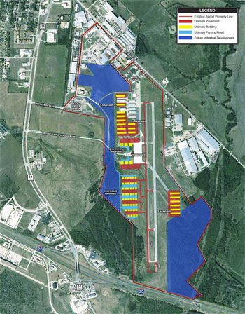 Airport layout - click on image for larger view in pdf format