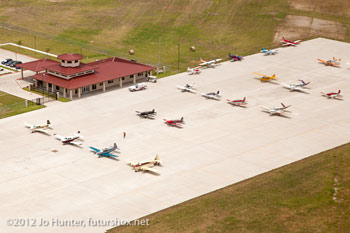 City of Terrell airport Terminal from the air - Photo courtesy Jo Hunter